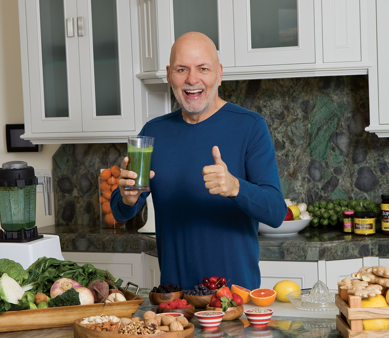 Dr Schulze making Superfood Plus